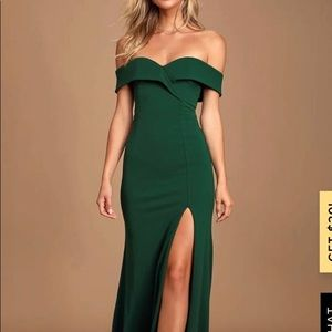 Hunter green long dress!